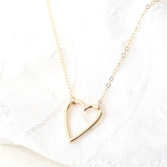 Love heart dainty pendant necklace os from jess lauren posh love heart dainty pendant necklace aloadofball Image collections